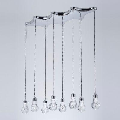 Pendente Bella Iluminação Bolha 10x Horizontal LED Metal Acrílico 15x78cm 10 LED 110v 220v Bivolt HO078P Hall Saguão
