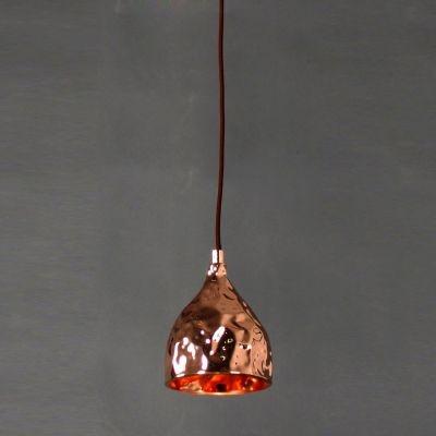 Pendente Bella Iluminação Brass Sino Suspenso Metal Cobre 17x12,5cm 1 G9 Halopin 110v 220v Bivolt JY005B Balcões Mesa Jantar