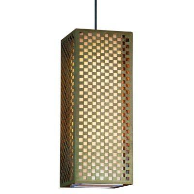 Pendente Bella Iluminação Camurça Retangular Aço Bege Branco 60x23cm 2 E27 110v 220v Bivolt HU2169AL Cozinhas Quartos