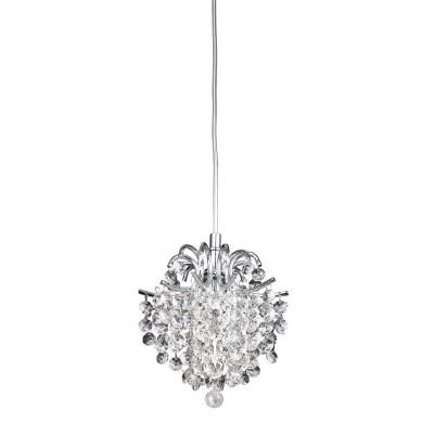 Pendente Bella Iluminação Fiore Metal Cristal K9 Translucido 18x16cm 1 G9 Halopin 110v 220v Bivolt HU2106 Saguão Hall
