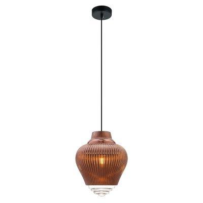 Pendente Bella Iluminação Fuzy Metal Vidro Translucido Cobre 28x23cm 1 E27 40W 110v 220v Bivolt OP054A Cozinhas Balcões