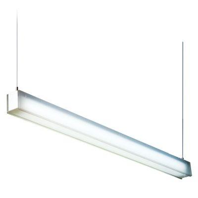 Pendente Bella Iluminação Kalha Acrílico Metal Branco Fosco 7x58cm 1x 14W 127 Volts SN001A Corredores Sala Estar