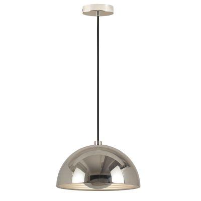 Pendente Bella Iluminação Mezza Redondo Metal Contemporâneo Cromo Ø50cm 1 E27 110v 220v Bivolt SE500C Corredores Cozinhas