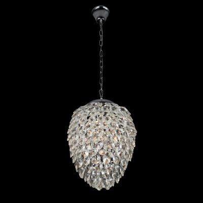 Pendente Bella Iluminação Nut Metal Aço Cristal K9 Translucido 51x40cm 5 G9 Halopin 110v 220v Bivolt HU2174 Sala Estar Hall