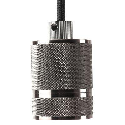 Pendente Bella Iluminação Socket Tubo Suspenso Metal Cromo 6x4,8cm 1 E-27 110v 220v Bivolt DA002C Sala Estar Quartos