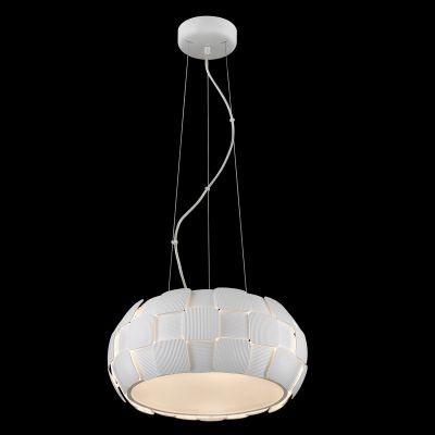 Pendente Bella Iluminação Vega Policarbonato Acrílico Esfera Branco 20x46cm 5 E27 110v 220v Bivolt HO106 Cozinhas Saguão