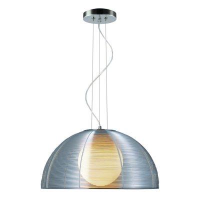Pendente Bella Iluminação Wire 1/2 Esfera Vidro Metal Cupula Metal Ø50cm 1x E27 110v 220v Bivolt GA006S Sala Estar Saguão