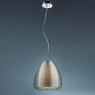 Pendente Bella Iluminação Wire Cupula Cone Vidro Translucido Metal Ø30cm 1 E27 110v 220v Bivolt GA001S Sala Estar Saguão
