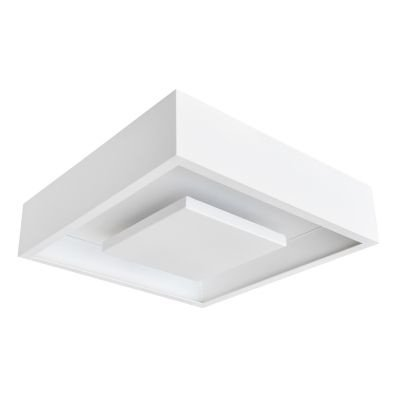 Plafon Bella Iluminação Hide LED Quadrado Embutir Branco 8,5x35cm 1x LED 24W 110v 220v Bivolt DL082WW Quartos Cozinhas