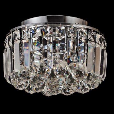 Plafon Bella Iluminação Kri Metal Cromo Cristal K9 Esferico 20,5x25cm 4 G9 Halopin 110v 220v Bivolt HU1102 Saguão Sala Estar
