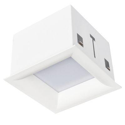Plafon Bella Iluminação Tec Embutir Quadrado Curvo Branco 12x17cm 1 LED 12W 110v 220v Bivolt DL010WW Sala Estar Corredores
