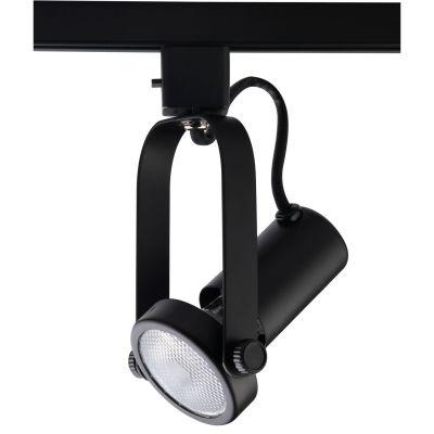 Spot Bella Iluminação Basic Trilho Regulavel Metal Preto 18x7cm 1x PAR 20 110v 220v Bivolt DL030P Escritórios Sala Estar