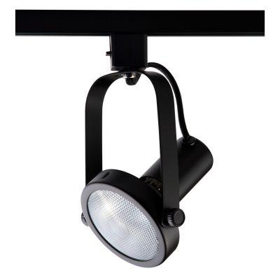 Spot Bella Iluminação Basic Trilho Regulavel Metal Preto 20x10cm 1x PAR 30 110v 220v Bivolt DL031P Escritórios Sala Estar