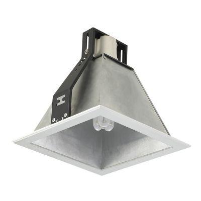 Spot Bella Iluminação Conecta Sino Quadrado Sino Metal Branco Ø13cm 1 E27 110v 220v Bivolt NS7271P Saguão Corredores