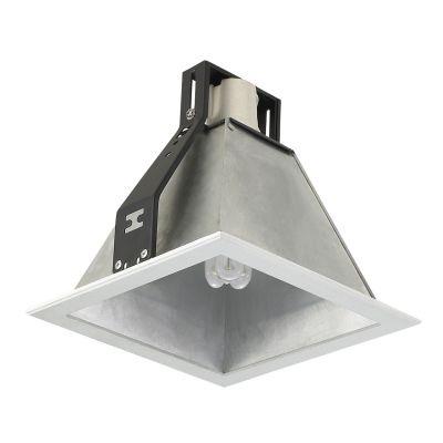 Spot Bella Iluminação Conecta Sino Quadrado Sino Metal Branco Ø18,5cm 1 E27 110v 220v Bivolt NS7271M Saguão Corredores
