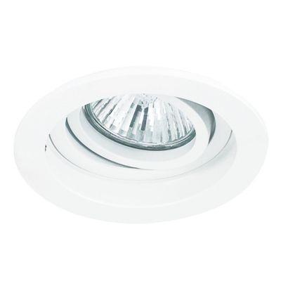 Spot Bella Iluminação Embutir Conecta Red Metal Branco 4x10cm 1 GU10 Dicróica 110v 220v Bivolt NS7000B Sala Estar Quartos