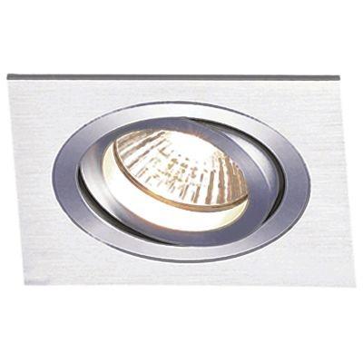 Spot Bella Iluminação Embutir Ecco Quadrado Metal Escovado 12x17cm 1 PAR30 110v 220v Bivolt NS5301A Saguão Cozinhas