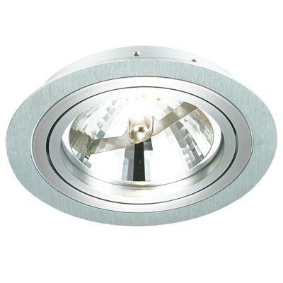 Spot Bella Iluminação Embutir Ecco Redondo Metal Escovado 6,5x17 1 AR111 110v 220v Bivolt NS5110A Corredores Sala Estar