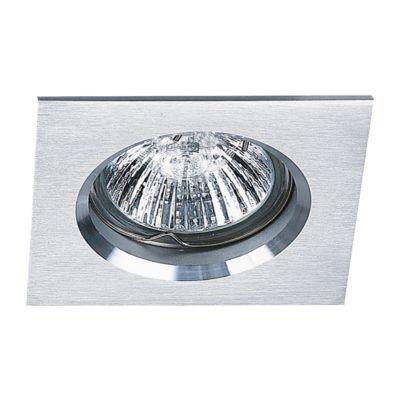 Spot Bella Iluminação Embutir Fit Quadrado Metal Branco 5,7x8cm 1 GU10 Dicróica 110v 220v Bivolt NS1002B Cozinhas Sala Estar