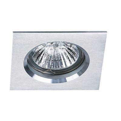 Spot Bella Iluminação Embutir Fit Quadrado Metal Branco 5x6cm 1 GU10 Minidicróica 110v 220v Bivolt NS1003B Quartos Sala Estar