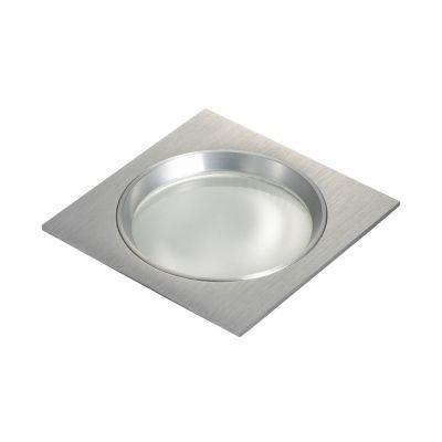 Spot Bella Iluminação Embutir Fit Quadrado Metal Escovado 8x11,6cm 1 G9 Halopin 110v 220v Bivolt NS5901A Saguão Quartos