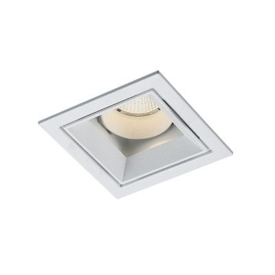 Spot Bella Iluminação Embutir Jan LED Quadrado Metal Branco 9,6x8,2cm 1 LED 9W 110v 220v Bivolt NS1058 Cozinhas Quartos