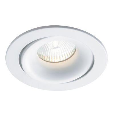 Spot Bella Iluminação Embutir Luna Red Metal Branco 4,2x13cm 1 AR70 110v 220v Bivolt NS470R Saguão Quartos