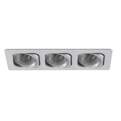 Spot Bella Iluminação Embutir Monet Ret Metal Triplo 5,7x25,5cm 3 GU10 Dicróica 110v 220v Bivolt NS6003B Cozinhas Sala Estar