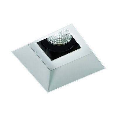Spot Bella Iluminação Embutir Wall No Frame Quadrado Branco 10,5x8,4cm 1 LED 6W 110v 220v Bivolt NS1056 Quartos Sala Estar