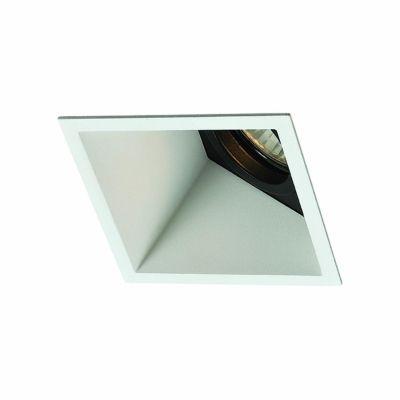 Spot Bella Iluminação Embutir Wallwasher Quadrado Metal 11,6x9,2cm 1 GU10 Dicróica 40W 110v 220v Bivolt NS1033GU Sala Estar Hall