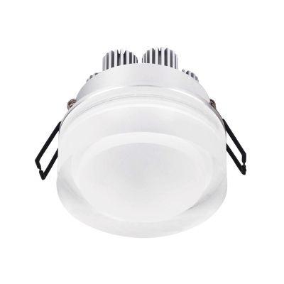 Spot Bella Iluminação Mat Red LED Embutir Metal Acrílico 7,5x9cm 1 LED 6W 110v 220v Bivolt LG8690 Corredores Saguão