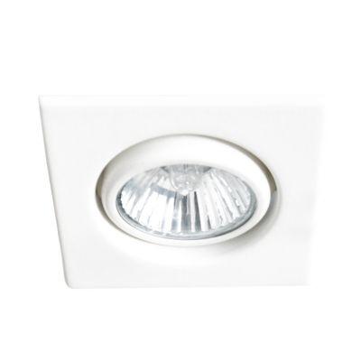 Spot Bella Iluminação Pop Quadrado Embutir Metal Branco 1,7x10,7cm 1 PAR 20 110v 220v Bivolt DL065 Lavabos Corredores