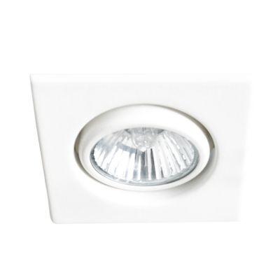 Spot Bella Iluminação Pop Quadrado Embutir Metal Branco 2x7cm 1 Mini Dicróica 110v 220v Bivolt DL056 Corredores Sala Estar