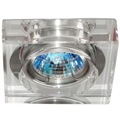 Spot Bella Iluminação Quadrado Cristal K9 Translucido Aço Cromo 1,4x6,2cm 1 GU10 Minidicróica YD756A Cozinhas Sala Estar