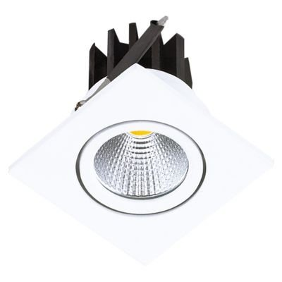 Spot Bella Iluminação Quadrado Foko LED Embutir Quadrado Branco 5,4x6,2cm 1x LED 3W 110v 220v Bivolt DL108Q Saguão Lavabos