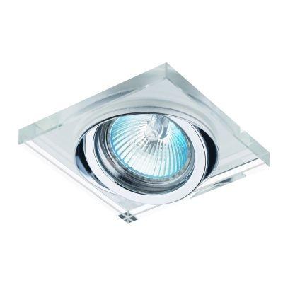 Spot Bella Iluminação Quadrado Shine Embutir Regulavel Aço Fosco 3x9cm 1 GU10 Dicróica YD134 Quartos Sala Estar