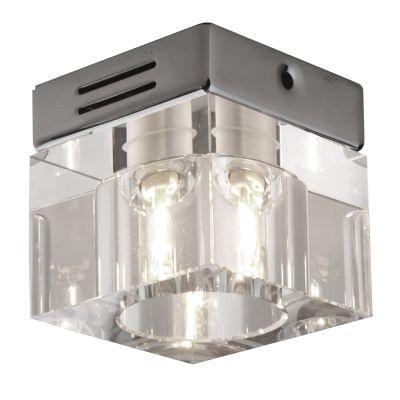 Spot Bella Iluminação Shine Quadrado Embutir Cristal K9 Aço Cromo Ø7cm 1 G9 Halopin 110v 220v Bivolt YD604S Cozinhas Sala Estar