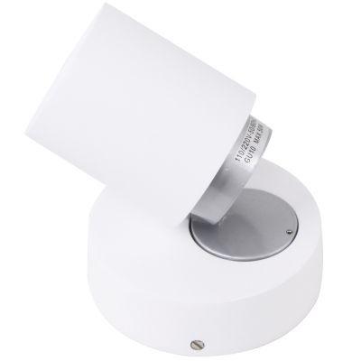 Spot Bella Iluminação Spin Regulavel Sobrepor Metal Branco 10x11cm 1x Dicróica 110v 220v Bivolt FH018 Sala Estar Quartos