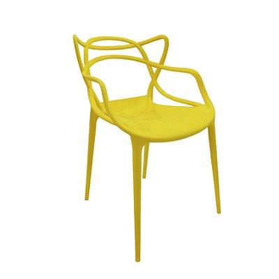 Cadeira Design Fratini Alegra Master Philippe Starck Amarela Polipropileno Cozinhas Aviv