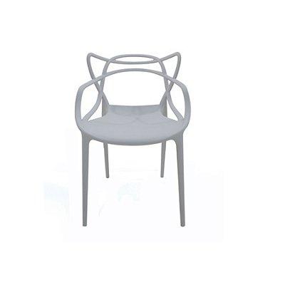 Cadeira Design Fratini Alegra Master Philippe Starck Cinza Claro Polipropileno Cozinhas Aviv