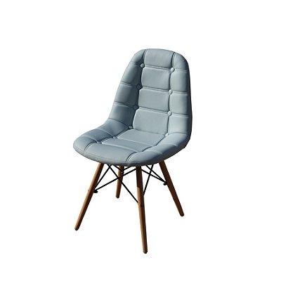 Cadeira Design Fratini Botone Eames Eiffel DAR Ray Pes Madeira Natural Salas Madrid Azul Claro