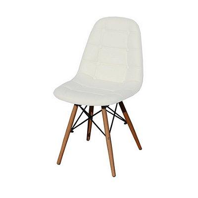 Cadeira Design Fratini Botone Eames Eiffel DAR Ray Pes Madeira Natural Salas Madrid Branco