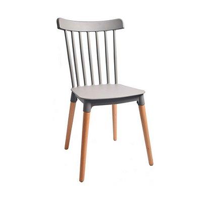 Cadeira Design Fratini Classica Windsor Madeira Natural Restaurantes Salas Gourmet Roma Cinza