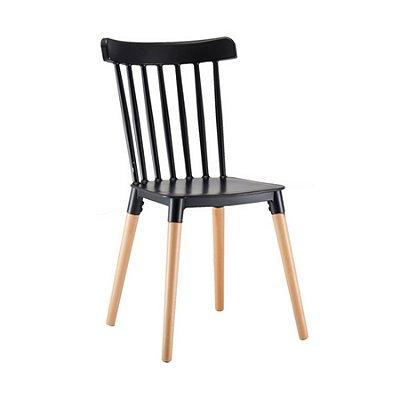 Cadeira Design Fratini Classica Windsor Madeira Natural Restaurantes Salas Gourmet Roma Preto