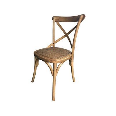 Cadeira Design Fratini Cross Katrina Madeira Natural Bétula Restaurantes Salas Bares Paris