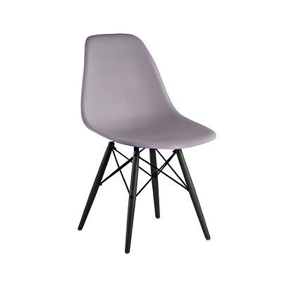 Cadeira Design Fratini Eames Eiffel DAR Ray Pes Madeira Natural Salas Florida Cinza Assento Polipropileno
