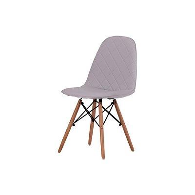 Cadeira Design Fratini Eames Eiffel DAR Ray Pes Madeira Natural Salas Gelo Assento Couro Nice