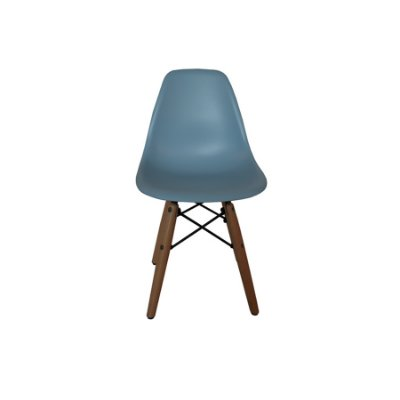Cadeira Design Fratini Eames Eiffel Kids Infantil Azul DAR Ray Pes Madeira Natural Florida Assento Polipropileno