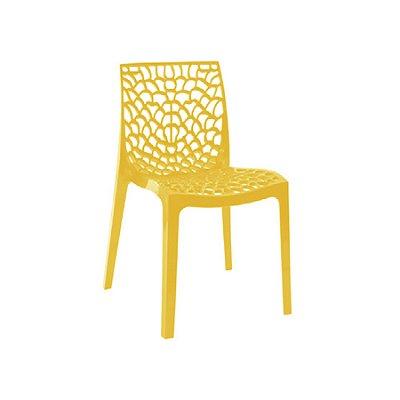Cadeira Design Fratini Gruvier Amarelo Ambiente Externo e Interna Cozinhas Salas Restaurantes