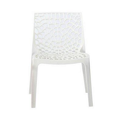Cadeira Design Fratini Gruvier Branca Ambiente Externo e Interna Cozinhas Salas Restaurantes